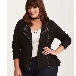 Torrid Disney Minnie Mouse Moto Jacket